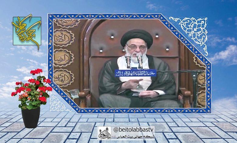 تصویر سخنرانی حائری قزوینی عید قربان | آداب قربانی کردن